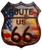 route 66 shield eagle met merk