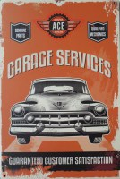 Ace Garage Services metalen reclamebord