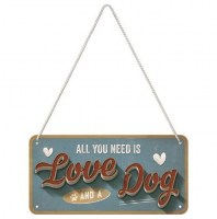 All You Need Is Love metalenbord 20x10 cm