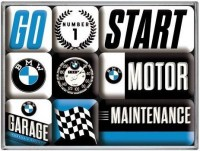 BMW Garage magneet set 9 delig9