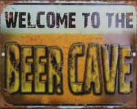 Beer Cave metalenbord