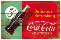 COCA COLA DELICIOUS REFRESHING METALENBORD XXL