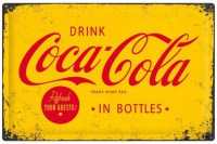 COCA COLA YELLOW METALENBORD XXL