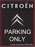 Citroen Parking Only metalen wandbord met facet rand