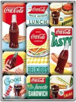Coca Cola Lunch magneet set 9 delig