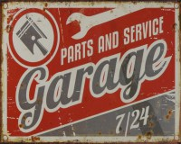 Garage Parts And Service metalenbord