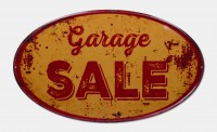 Garage Sale XXL gebold metalen wandplaat