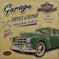 Garage Service And Repair Original Parts metalen reclamebord