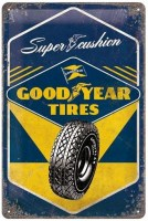 Good Year Tires metalen bord 3D 30x20 cm