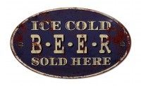 Ice Cold Beer XXL gebold metalen wandplaat