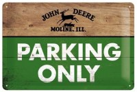 John Deere Parking Only Molline metalenbord 20x30 cm