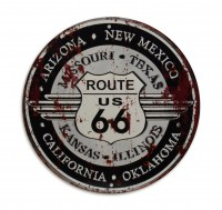 Route 66 Arizona metalenbord rond