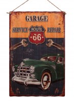 Route 66 Garage XXL origineel golfplaat metalen bord