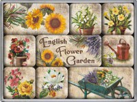 english flower garden magneetset