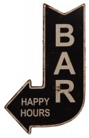 Bar Happy Hours metalenbord