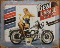 Best Garage Babe metalenbord
