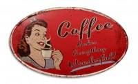 Coffee Makes Everything Wonderful XXL metalenbord