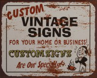 Custom Vintage Signs metalenbord