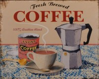 Freah Brewed Coffee metalenbord