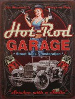 Hot Rod Garage metalenbord