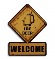 Ice Beer Welcome metalenbord