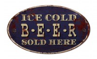 Ice Cold Beer XXL gebold metalen wandplaat7