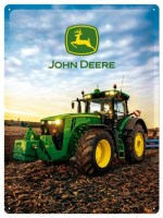 John Deere Early Morning metalenbord 40x30 cm