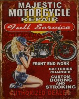 Majestic Motorcycle Repair metalenbord
