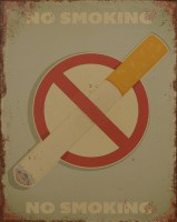 No Smoking metalenbord