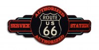 Route 66 Service Station XL metalenbord