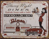 Starry Night Dinner metalen reclamebord