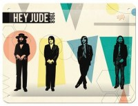 The Beatles Hey Jude metalenbord 20x15 cm