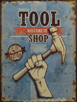 Tool Welcome To Shop metalen reclamebord