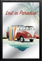 VW Volkswagen Lost in Paradise Surf Beach barspiegel8