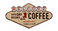 Welcome Coffee Good Day XL 3D metalenbord
